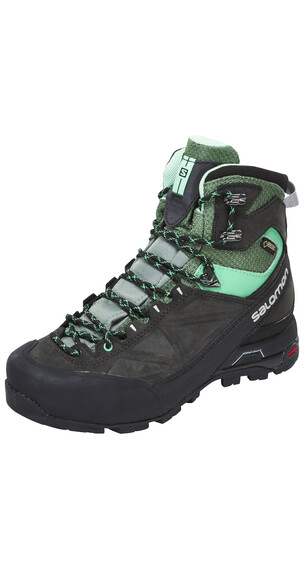 Salomon X Alp MTN GTX Hiking Boots Women asphalt/light tt/jade green